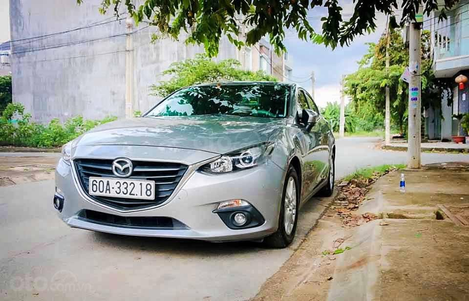 Bán xe Mazda 3 sản xuất 2016, màu bạc còn mới, 485 triệu (1)