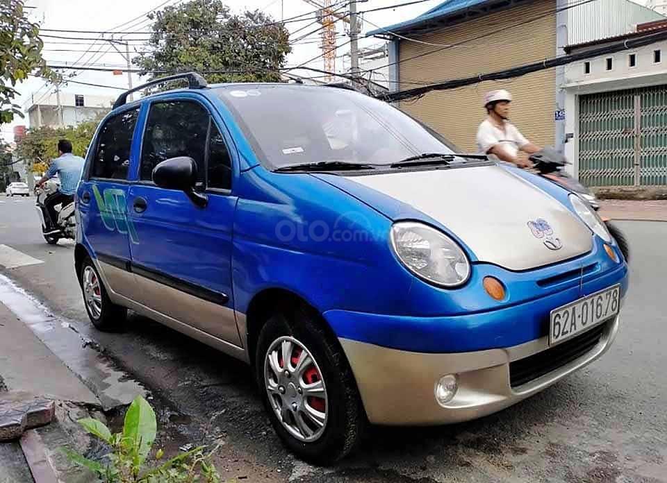 Bán ô tô Daewoo Matiz năm sản xuất 2007, màu xanh lam còn mới, giá tốt (1)