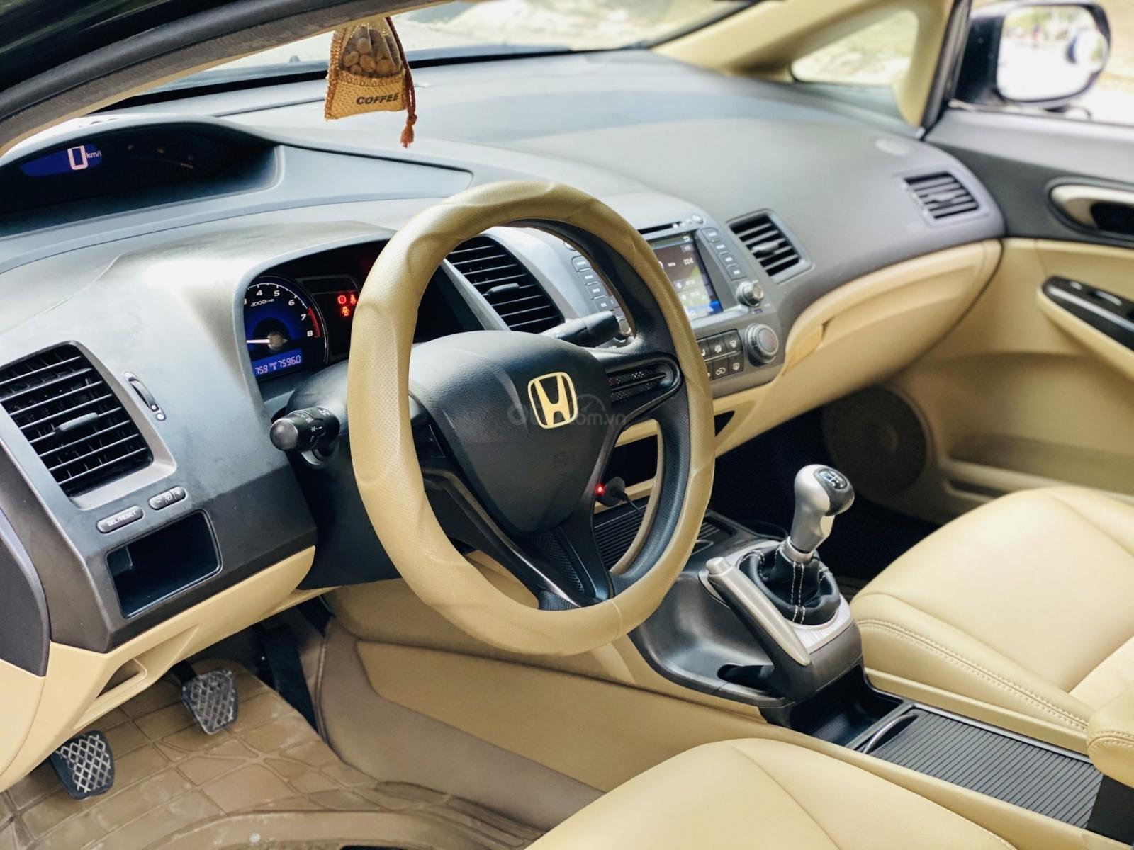 Bán xe Honda Civic đời 2009, màu đen. Xe gia đình, giá 285 triệu đồng (9)