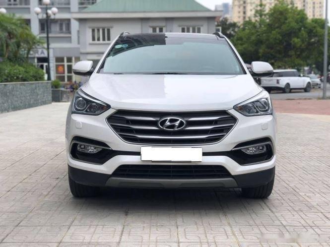 Bán Hyundai Santa Fe đời 2019, màu trắng, bản full option (5)