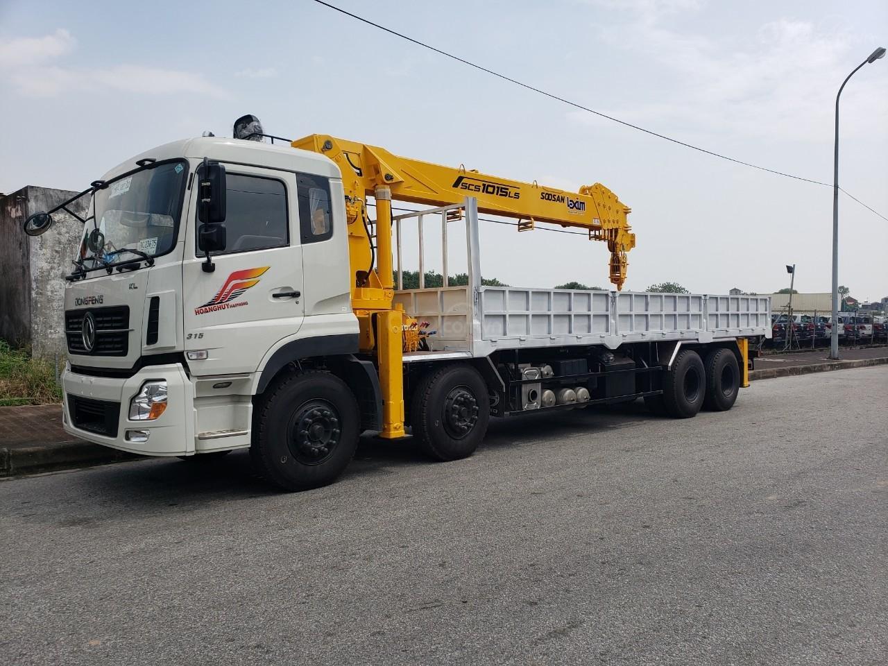 Xe tải gắn cẩu 12 tấn Dongfeng (1)
