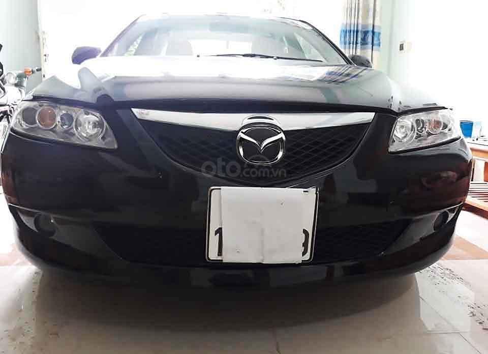 Bán Mazda 6 năm sản xuất 2005, màu đen xe gia đình giá cạnh tranh (1)