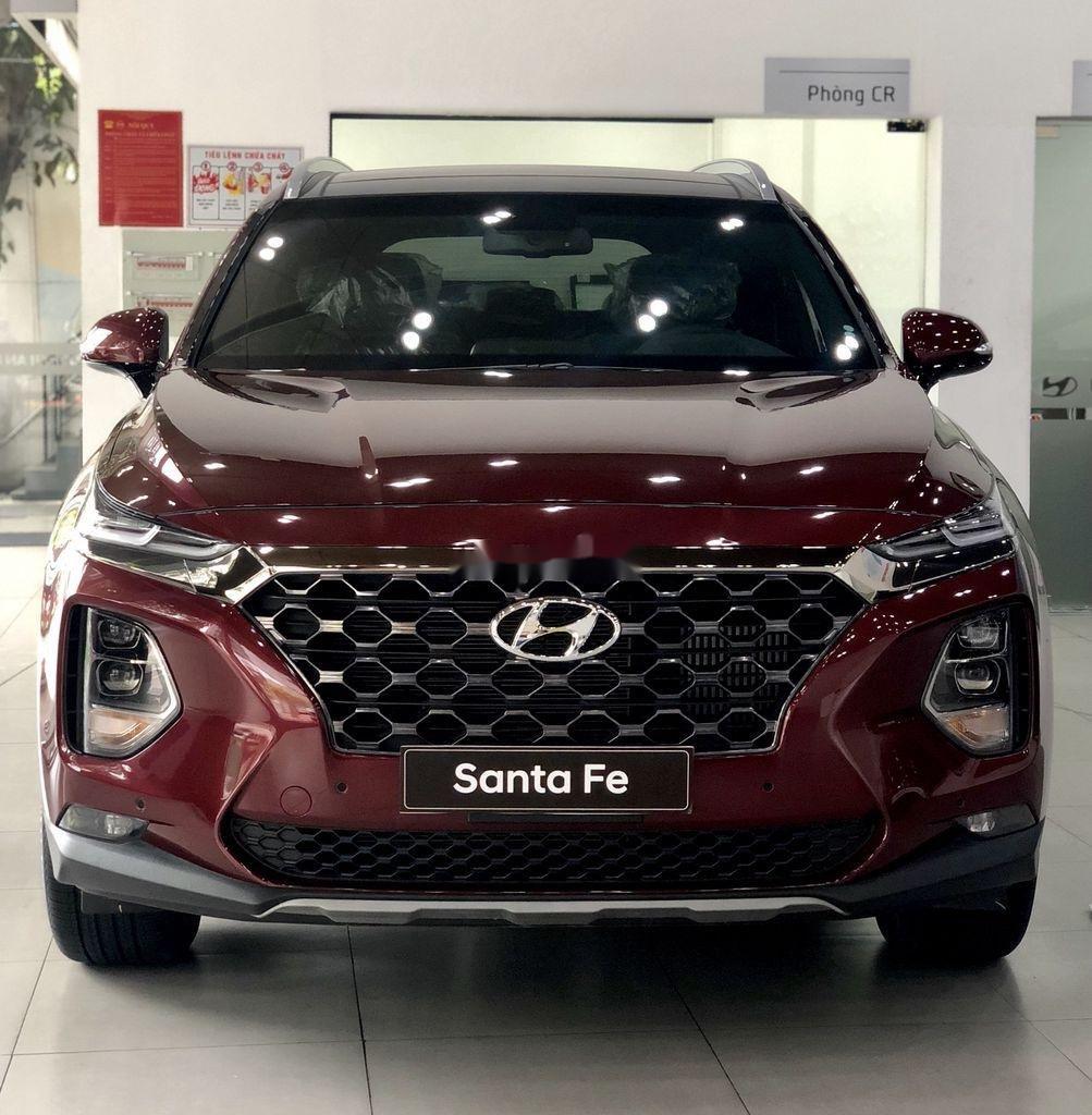 Bán ô tô Hyundai Santa Fe đời 2020, màu đỏ, giao xe nhanh (2)