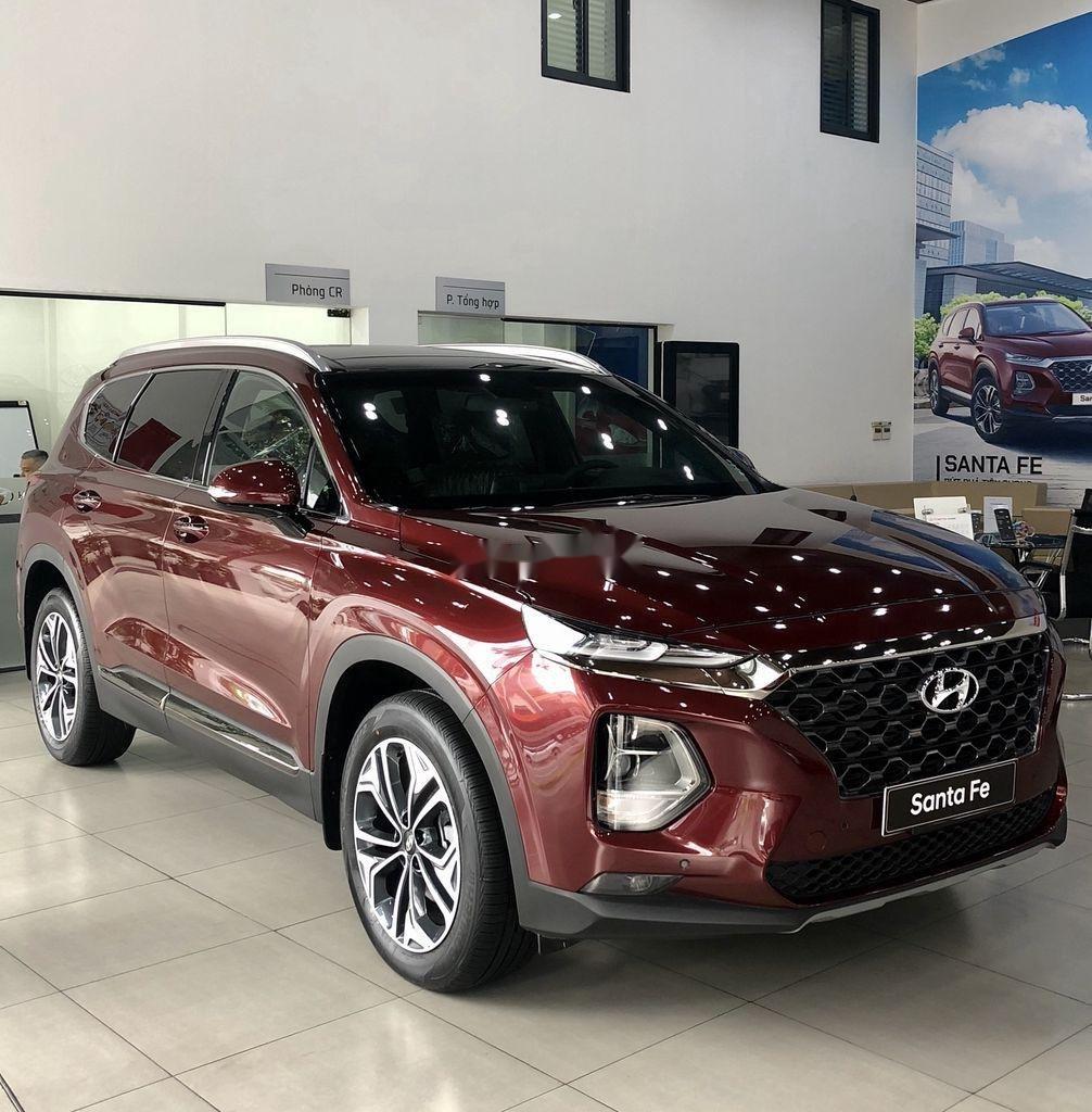 Bán ô tô Hyundai Santa Fe đời 2020, màu đỏ, giao xe nhanh (1)