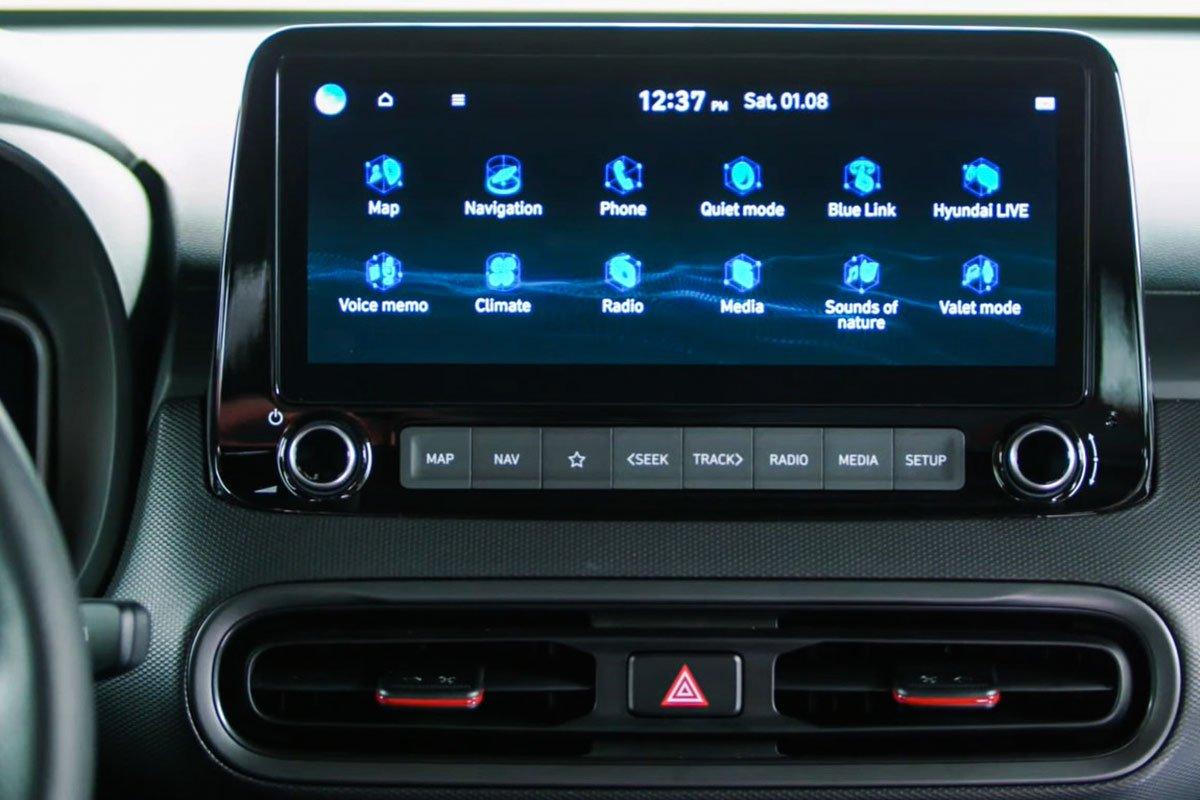 Ảnh Màn hình giải trí xe Hyundai Kona 2021