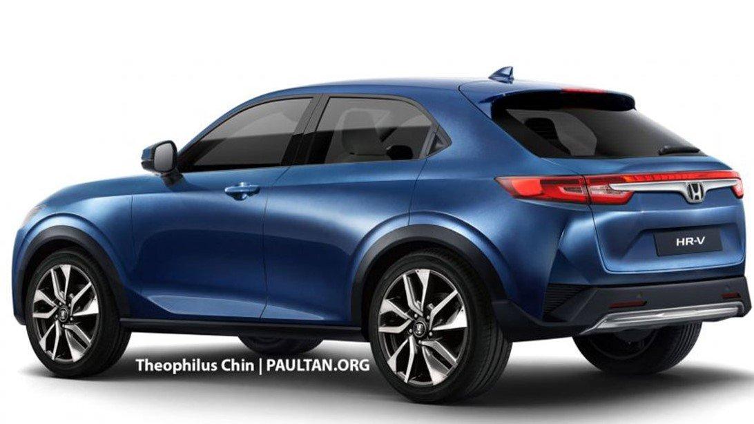 Phác thảo đuôi xe Honda HR-V 2021 1