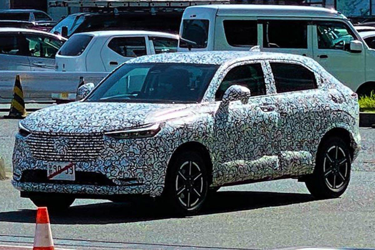 """Honda HR-V 2021 """"ngụy trang"""" chạy thử a1"""