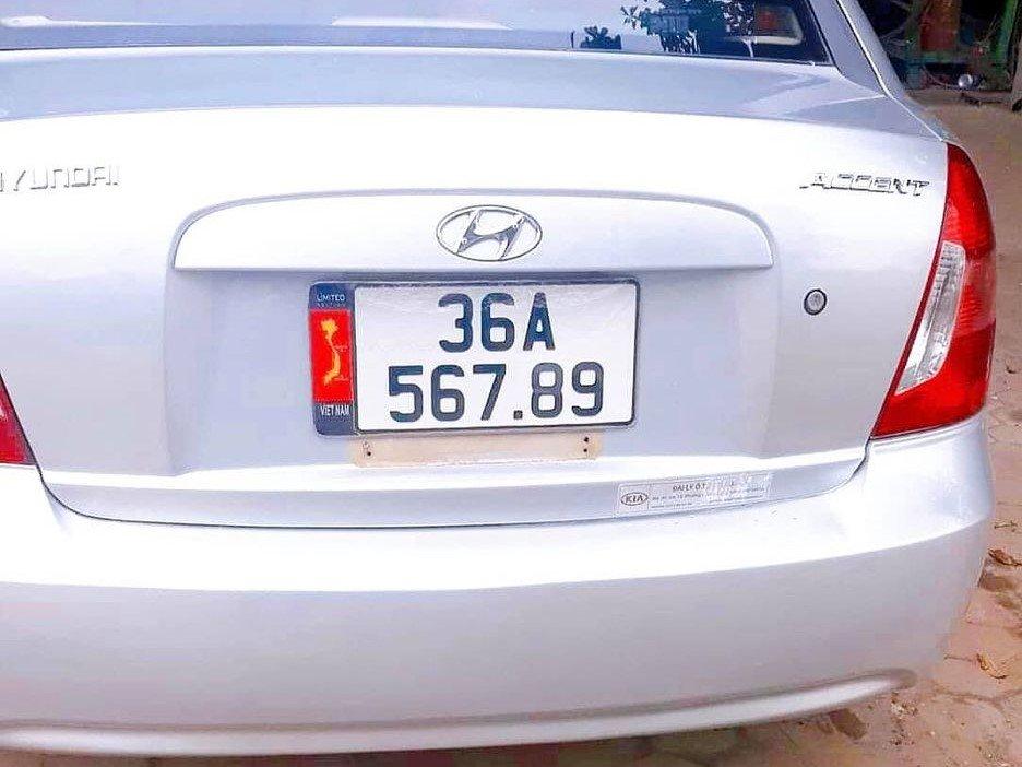 Hyundai Accent biển số 36A - 567.89 cực đẹp a3