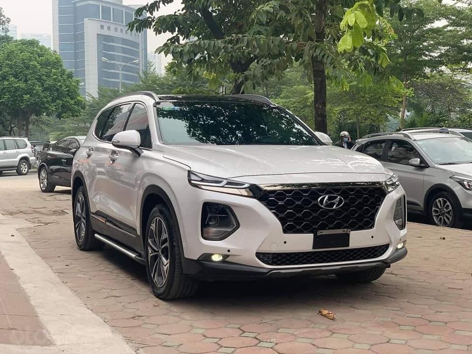Cần bán xe Hyundai Santa Fe Premium đời 2019, màu trắng (1)