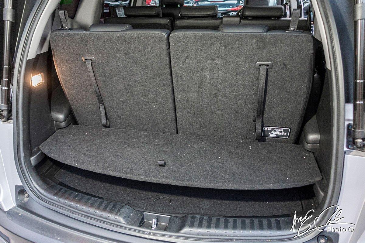 Khoang hành lý khi dùng đủ 3 hàng ghế trên Honda CR-V L 2020-2021.