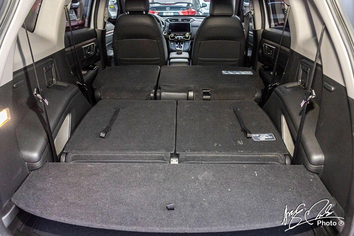 Khoang hành lý khi gập cả 2 hàng ghế phía sau trên Honda CR-V L 2020-2021.