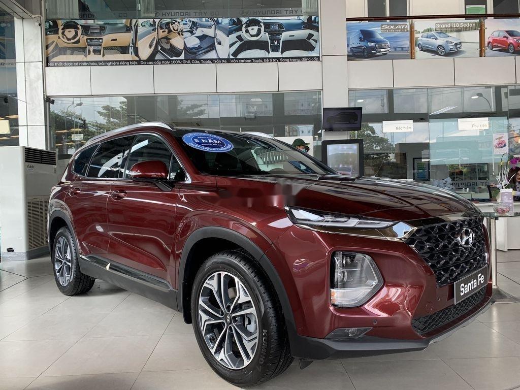 Bán ô tô Hyundai Santa Fe năm 2020, màu đỏ (1)