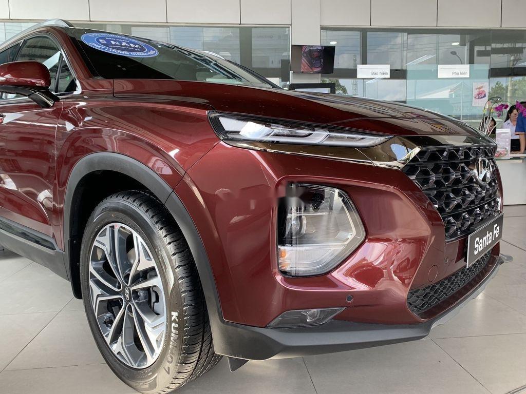 Bán ô tô Hyundai Santa Fe năm 2020, màu đỏ (2)