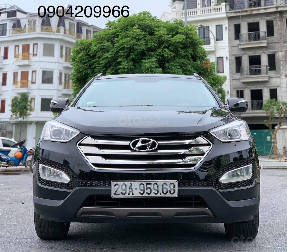 Cần bán xe Hyundai Santa Fe đời 2013, màu đen (2)