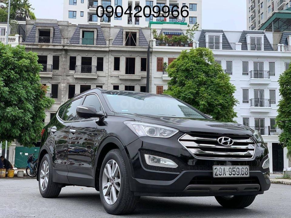 Cần bán xe Hyundai Santa Fe đời 2013, màu đen (1)