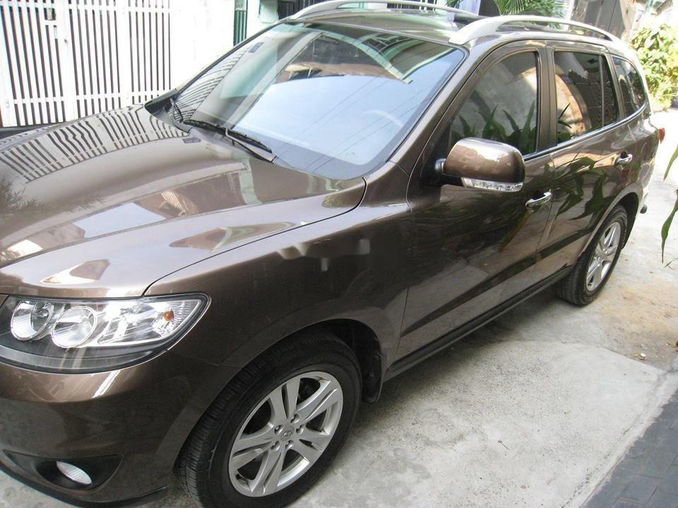 Bán Hyundai Santa Fe đời 2012, màu nâu, nhập khẩu chính chủ, 577 triệu (2)