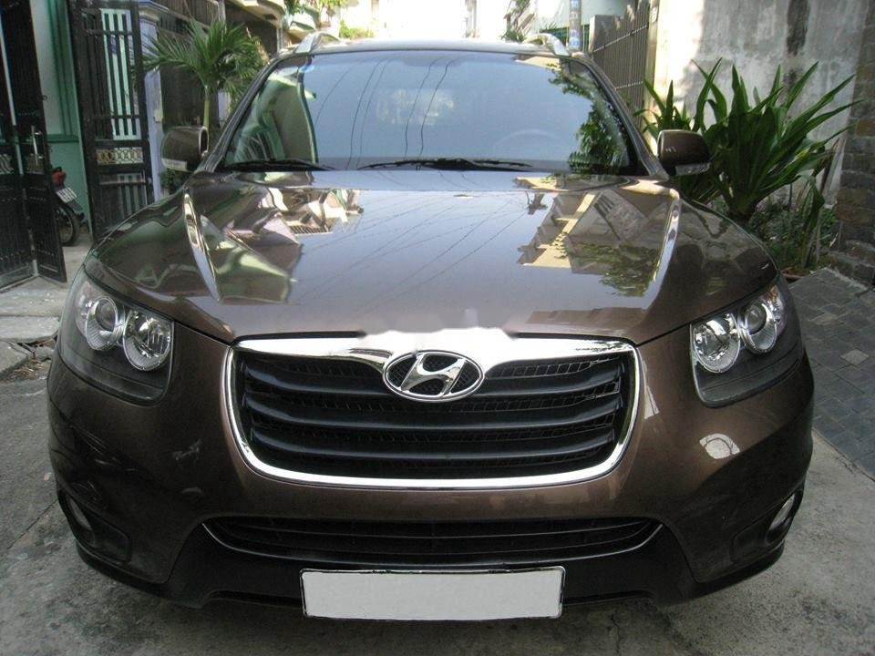 Bán Hyundai Santa Fe đời 2012, màu nâu, nhập khẩu chính chủ, 577 triệu (1)