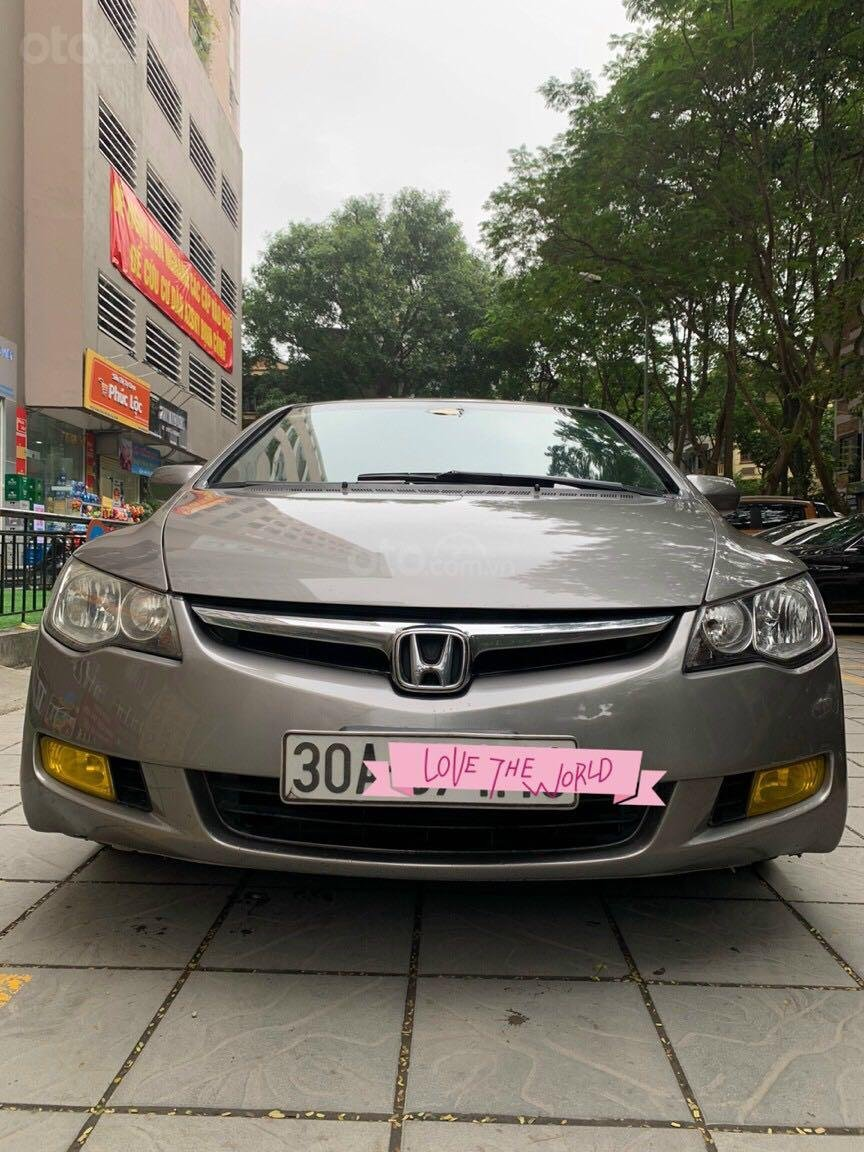 Cần bán Honda Civic đời 2008, màu ghi xám, chính chủ giá 295tr (1)
