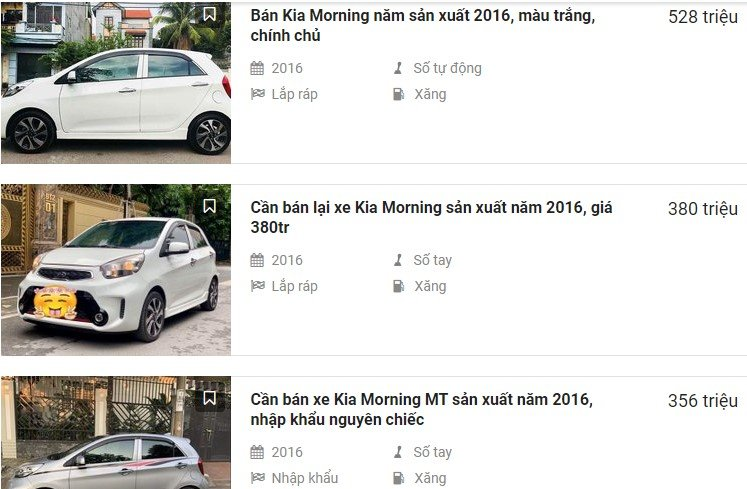 Mức giá này cũng đang rẻ cả trăm triệu đồng so với các đời xe thấp hơn từ 2015 - 201 1