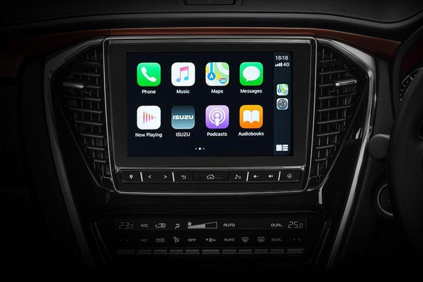 Đánh giá xe Isuzu mu-X về hệ thống thông tin giải trí.