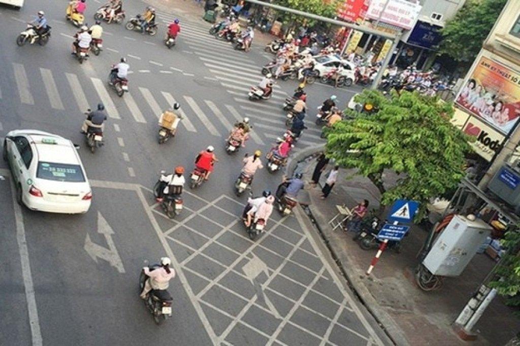 Người tham gia giao thông không được dừng xe trong khu vực vạch mắt võng.