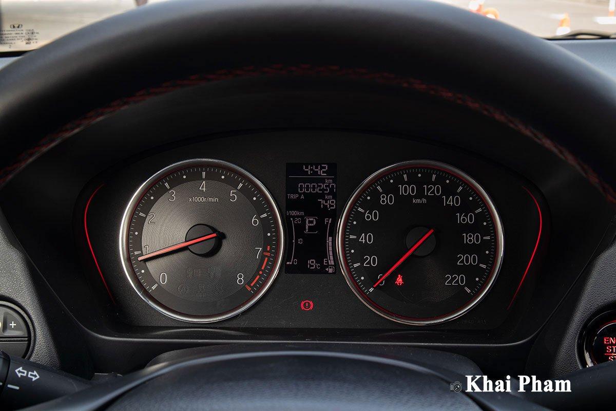 Bảng đồng hồ trên Honda City RS 2021.