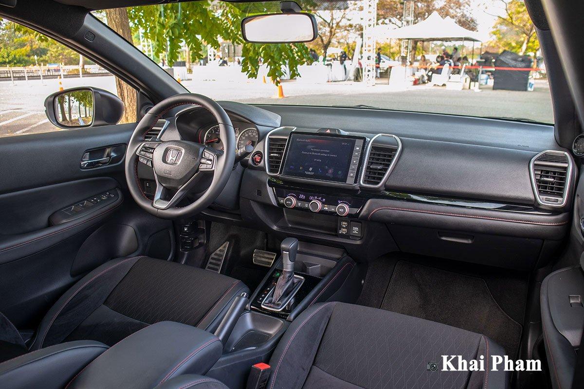 Nội thất hoàn toàn mới trên Honda City 2021 phiên bản RS.