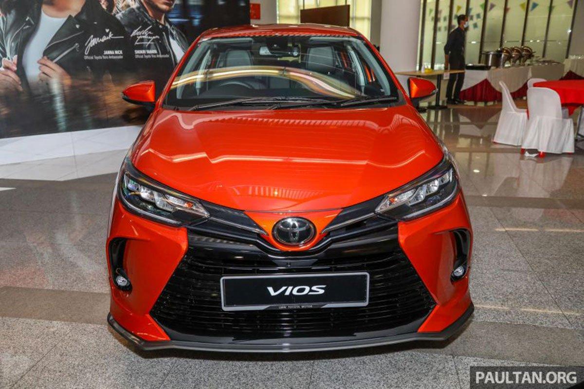 Thiết kế đầu xe Toyota Vios 2021 1