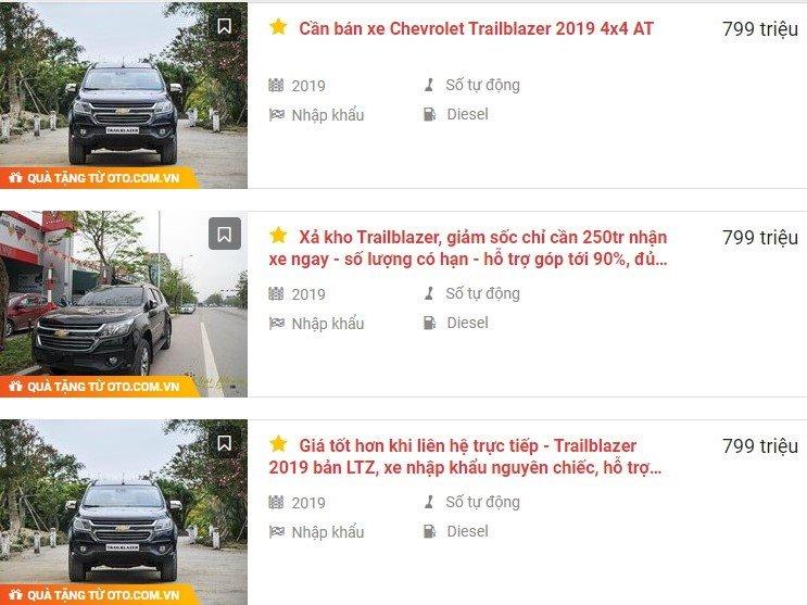 Chevrolet Trailblazer xả hàng tồn kho, giảm tới gần 300 triệu đồng