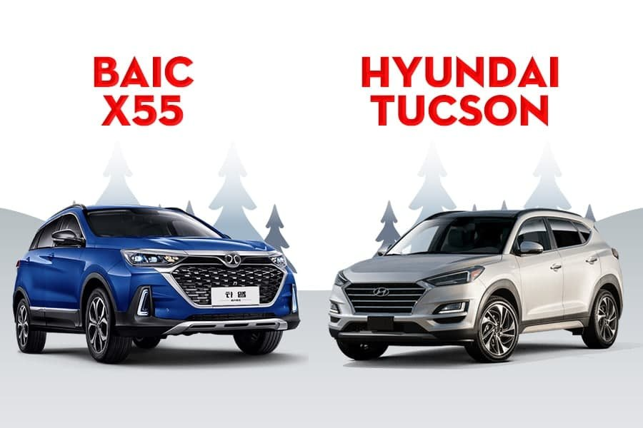 So sánh xe Baic X55 và Hyundai Tucson 2021: Đại chiến xe CUV giá rẻ a1