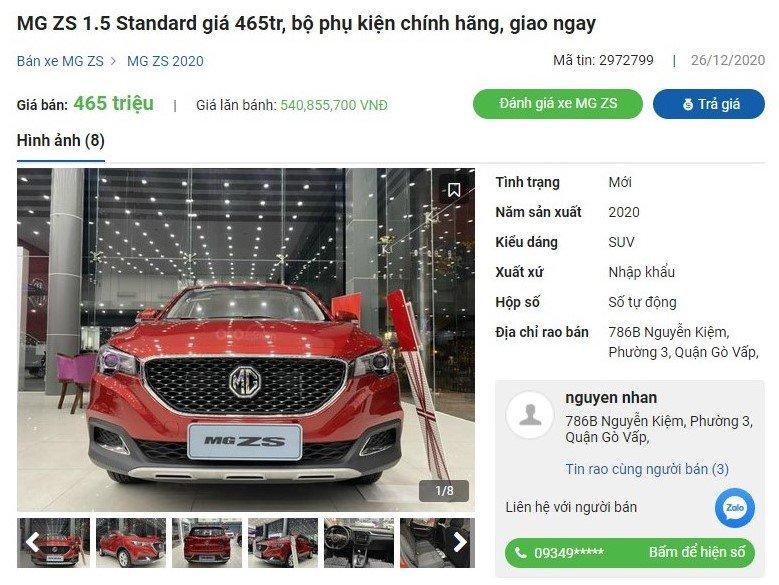 MG ZS 2020 giảm giá tại đại lý a1