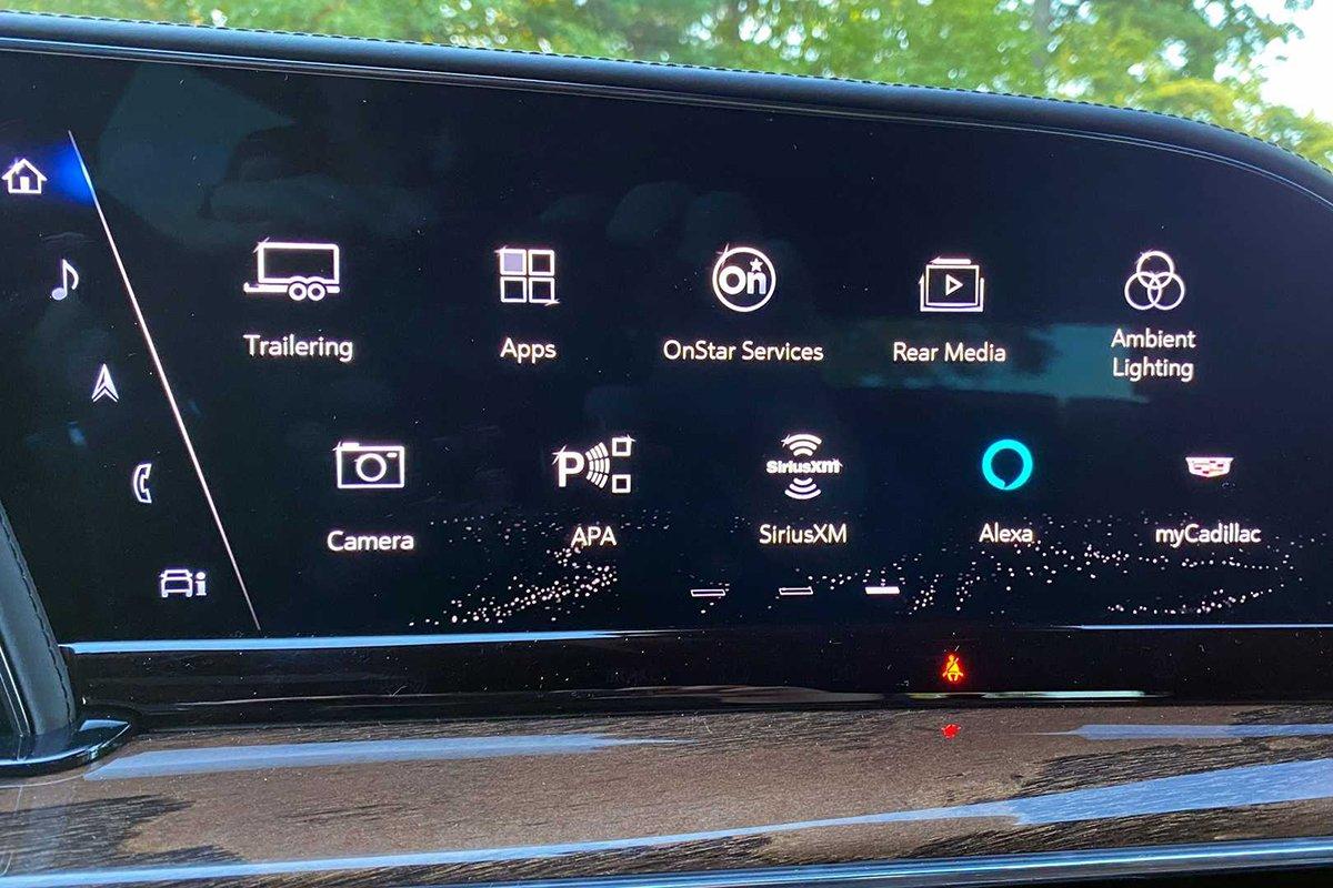 Ảnh Màn hình xe Cadillac Escalade 2021