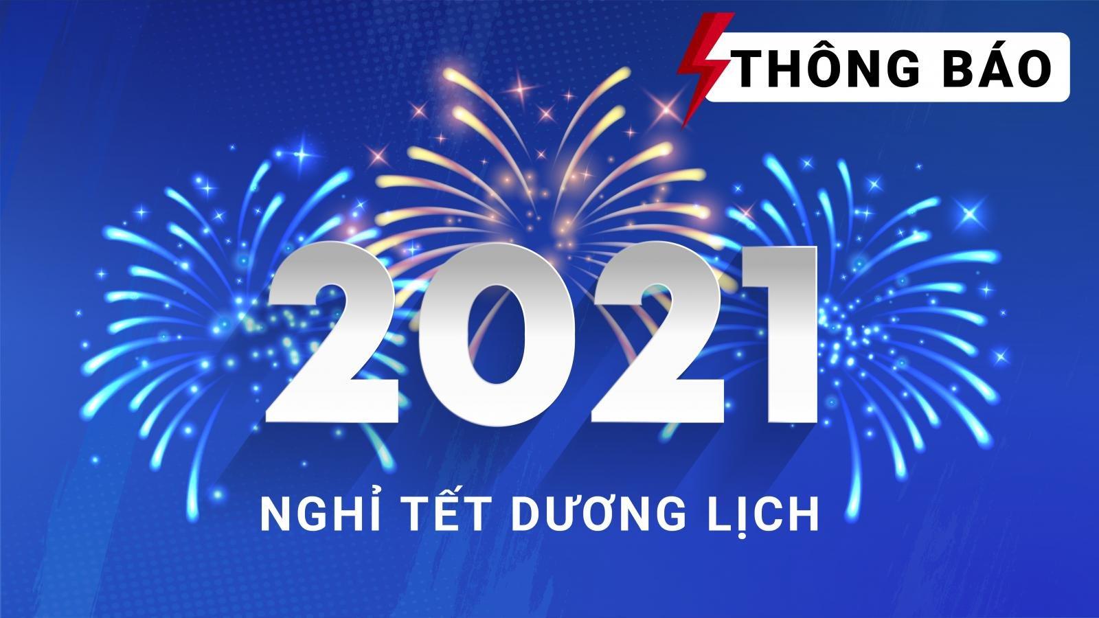 Oto.com.vn thông báo nghỉ Tết Dương lịch 2021