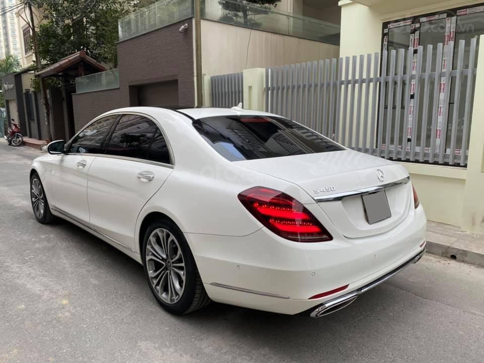 Mercedes S450 Luxury 2019 màu trắng, nội thất nâu cực kỳ sang trọng, chạy 20.000km siêu mới (4)