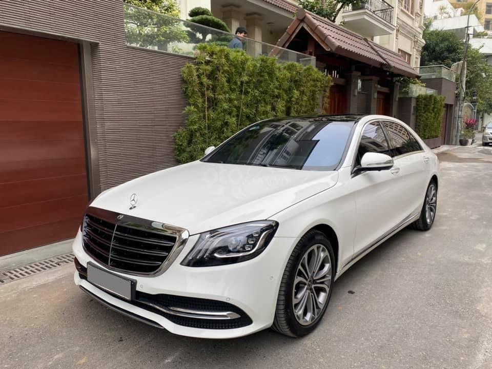 Mercedes S450 Luxury 2019 màu trắng, nội thất nâu cực kỳ sang trọng, chạy 20.000km siêu mới (2)