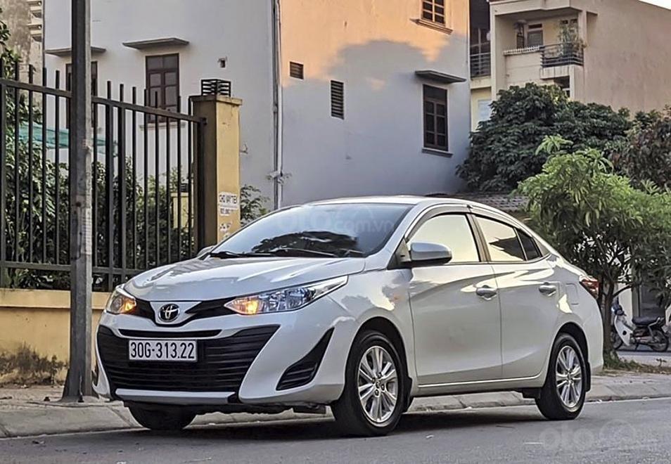 Cần bán lại xe Toyota Vios năm sản xuất 2019, màu trắng còn mới, 460 triệu (1)