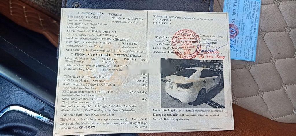 Bán ô tô Kia Forte sản xuất 2012, xe một đời chủ giá ưu đãi (11)