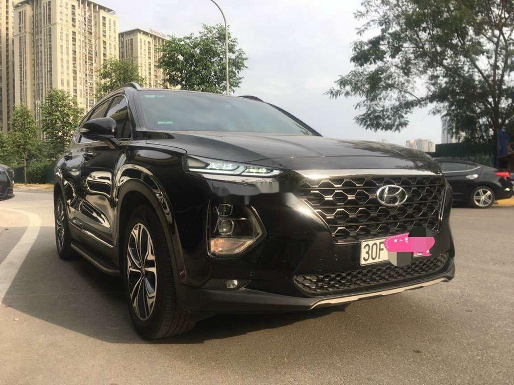 Bán Hyundai Santa Fe đời 2019, màu đen số tự động (3)