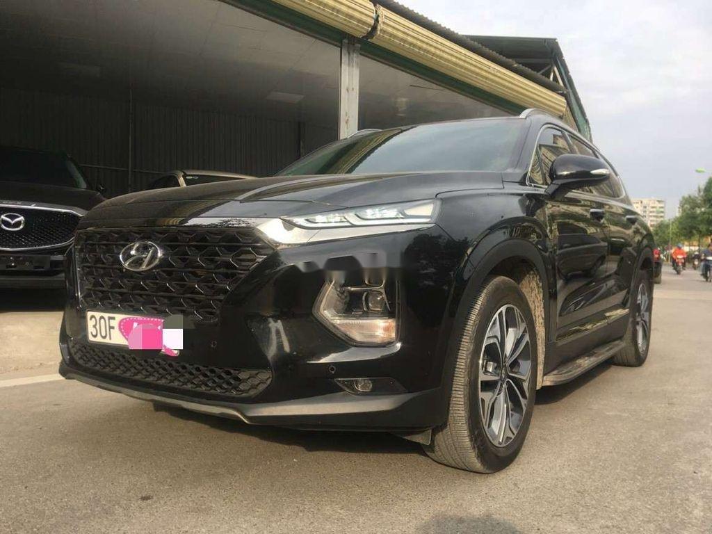 Bán Hyundai Santa Fe đời 2019, màu đen số tự động (4)