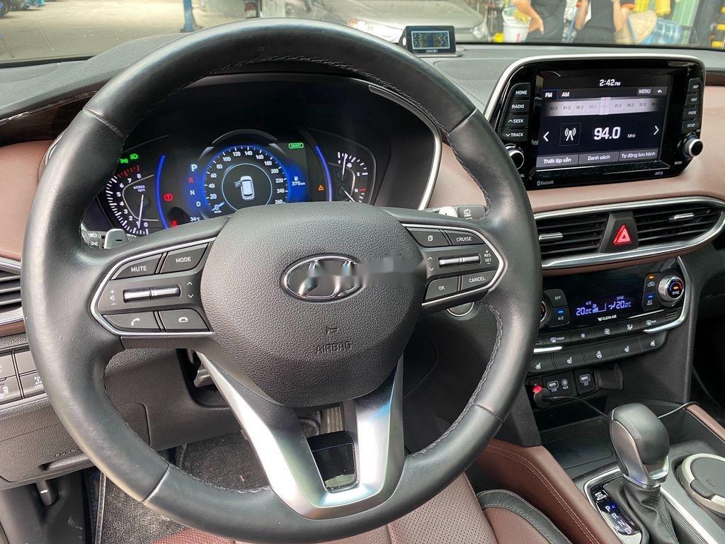 Bán Hyundai Santa Fe năm 2019, màu xanh lam chính chủ (10)