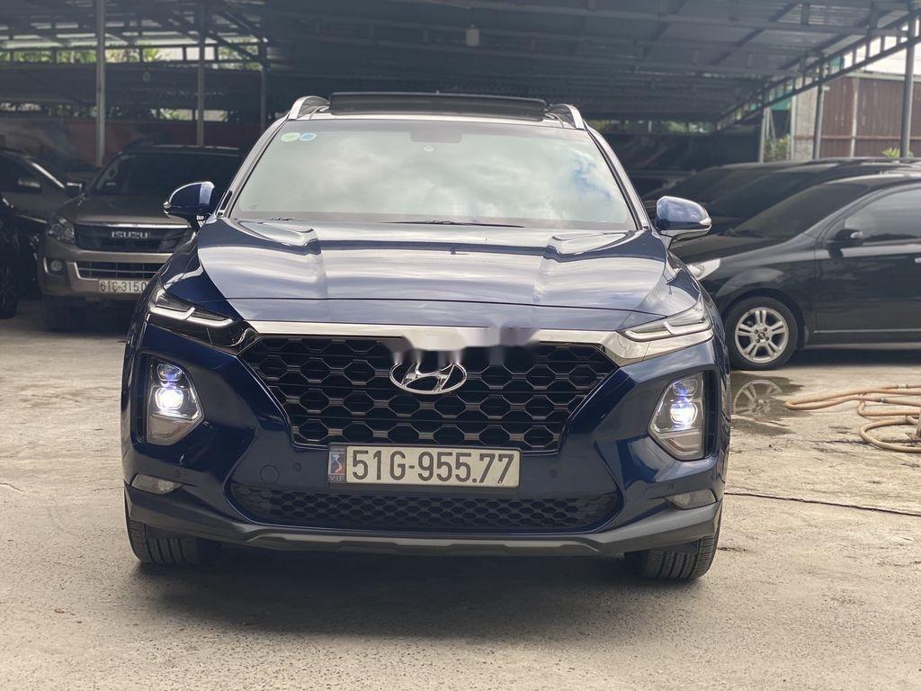 Bán Hyundai Santa Fe năm 2019, màu xanh lam chính chủ (1)