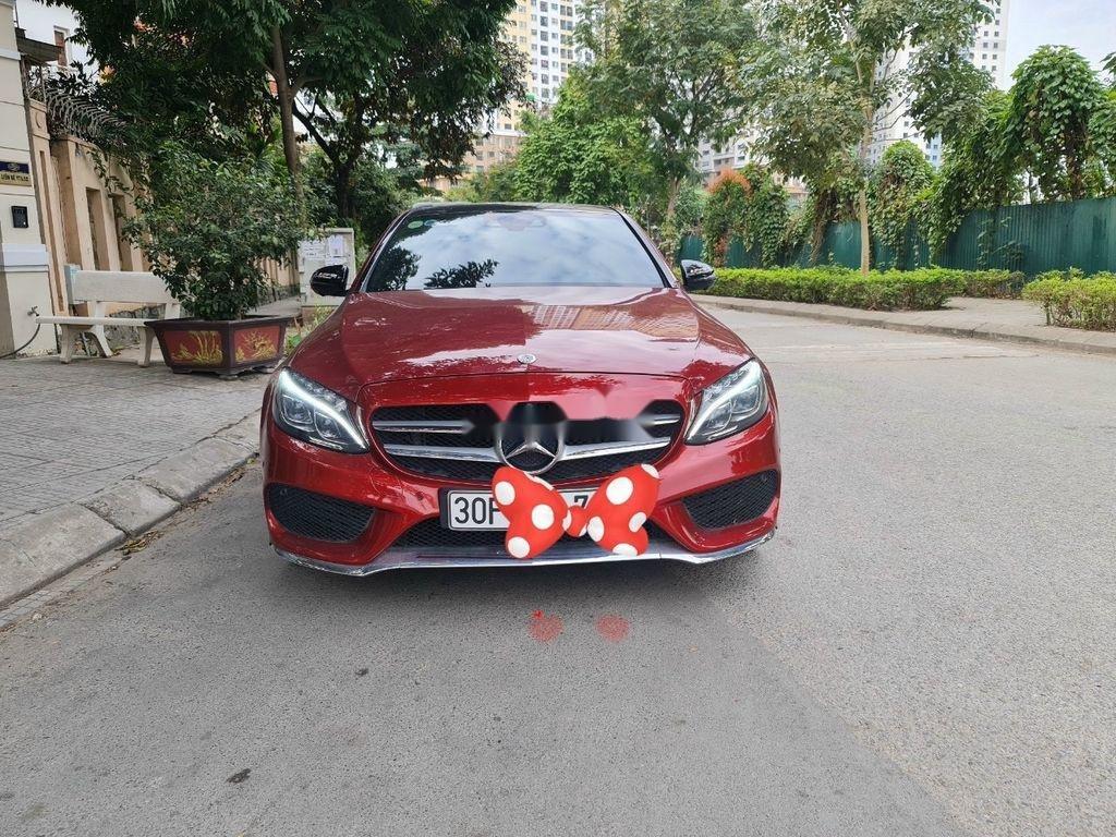 Cần bán gấp Mercedes C 300 AMG đời 2017, màu đỏ  (2)