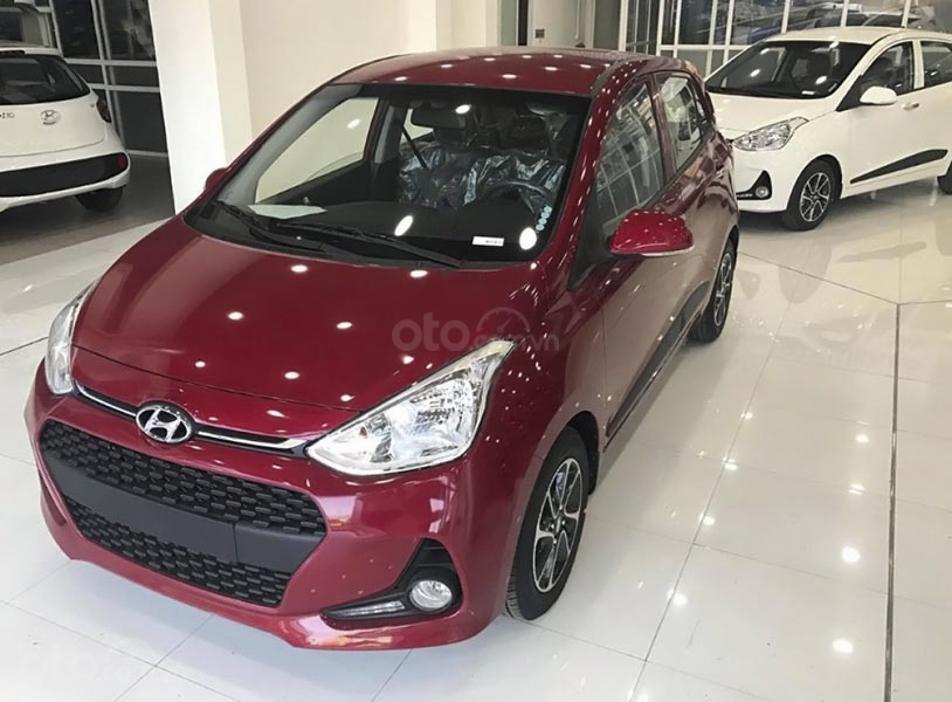 Bán Hyundai Grand i10 1.2 AT năm sản xuất 2020, màu đỏ (1)