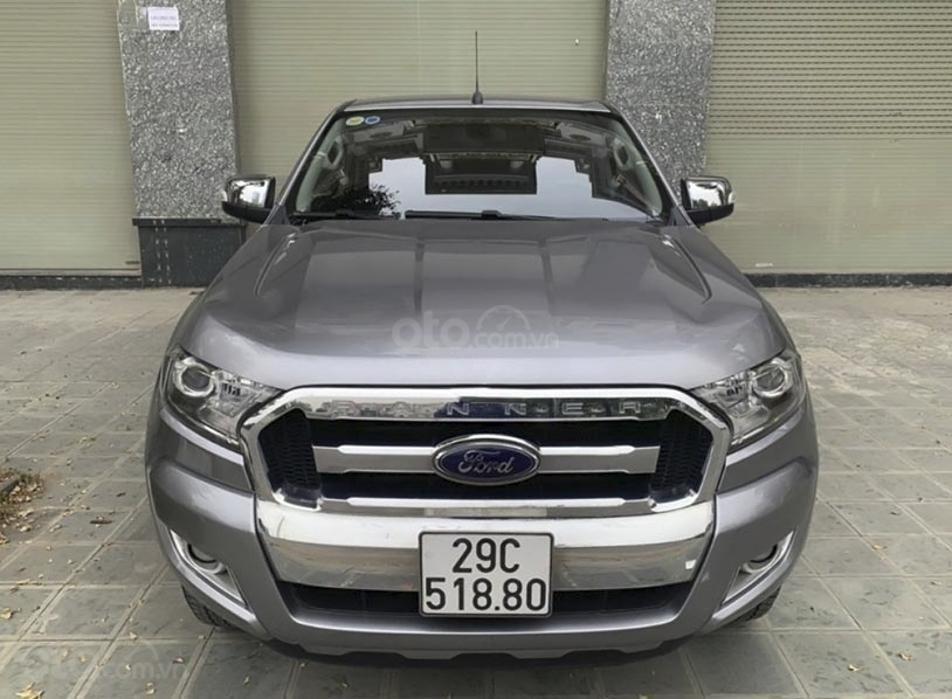 Cần bán gấp Ford Ranger XLT 2.2L 4x4 MT sản xuất năm 2016, màu xám, nhập khẩu (6)