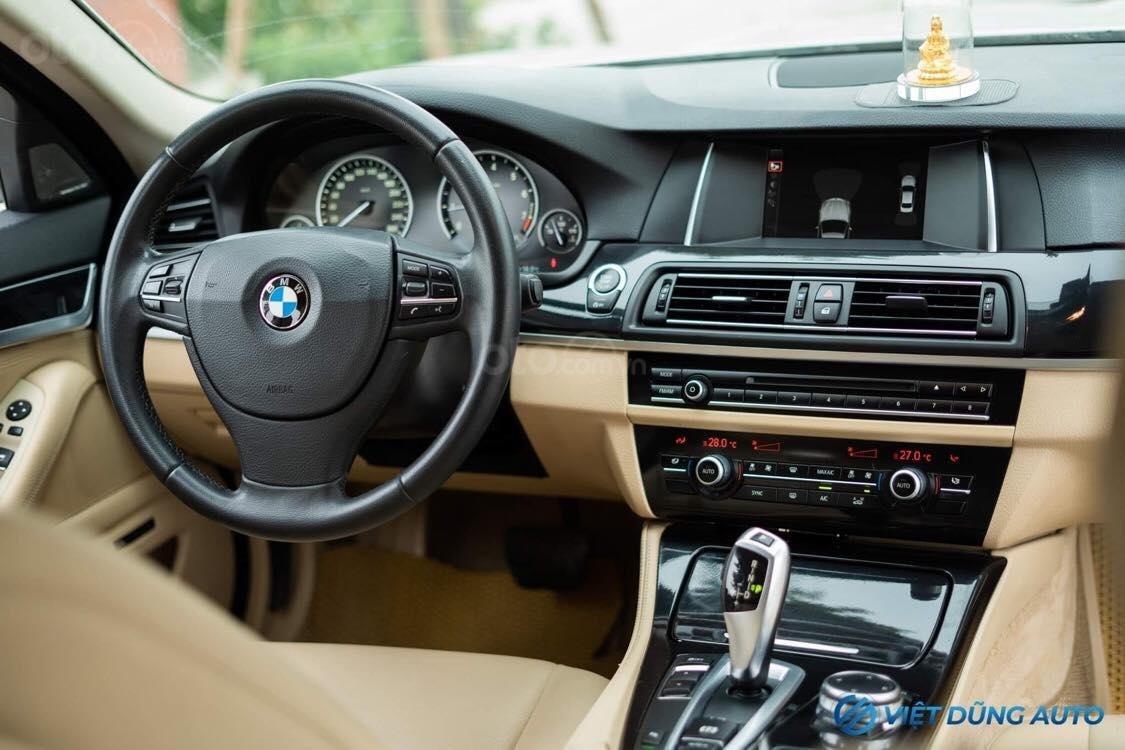 BMW 520i màu trắng nội thất kem hiếm có khó tìm sx 2014 số tự động (7)