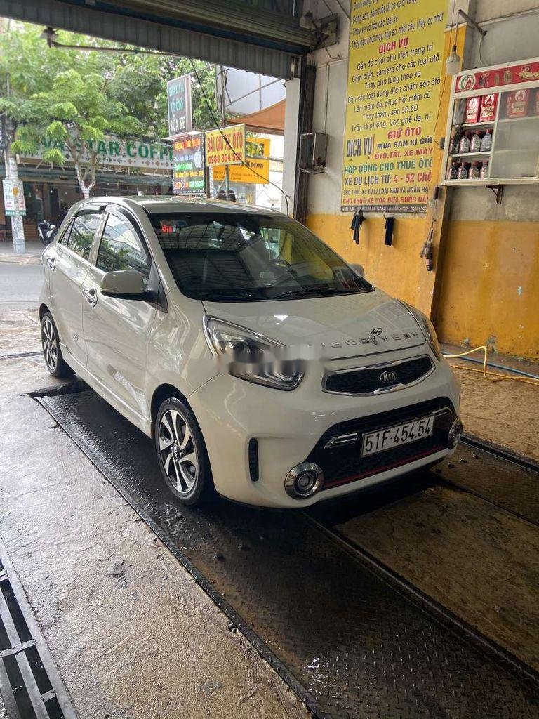 Cần bán lại xe Kia Morning 2017, màu trắng  (1)