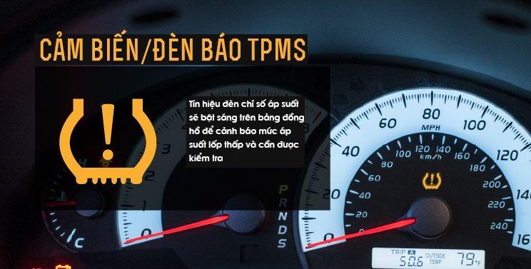 Đèn cảnh báo áp suất lốp.
