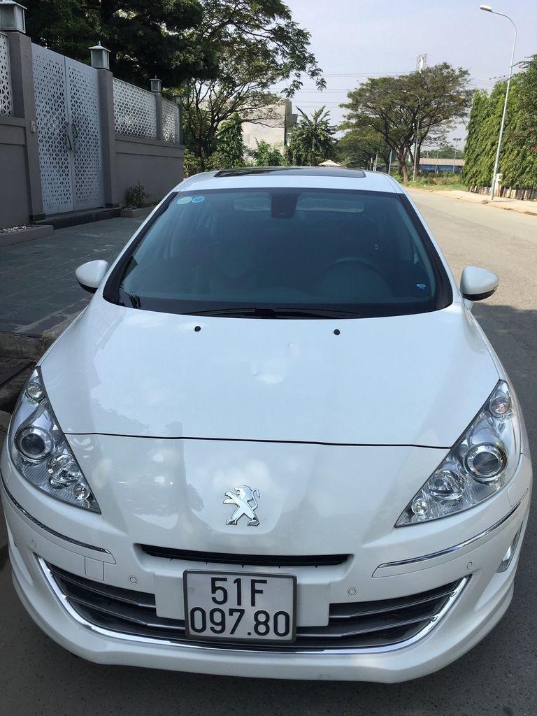 Cần bán lại xe Peugeot 408 sản xuất 2014, màu trắng ít sử dụng (1)