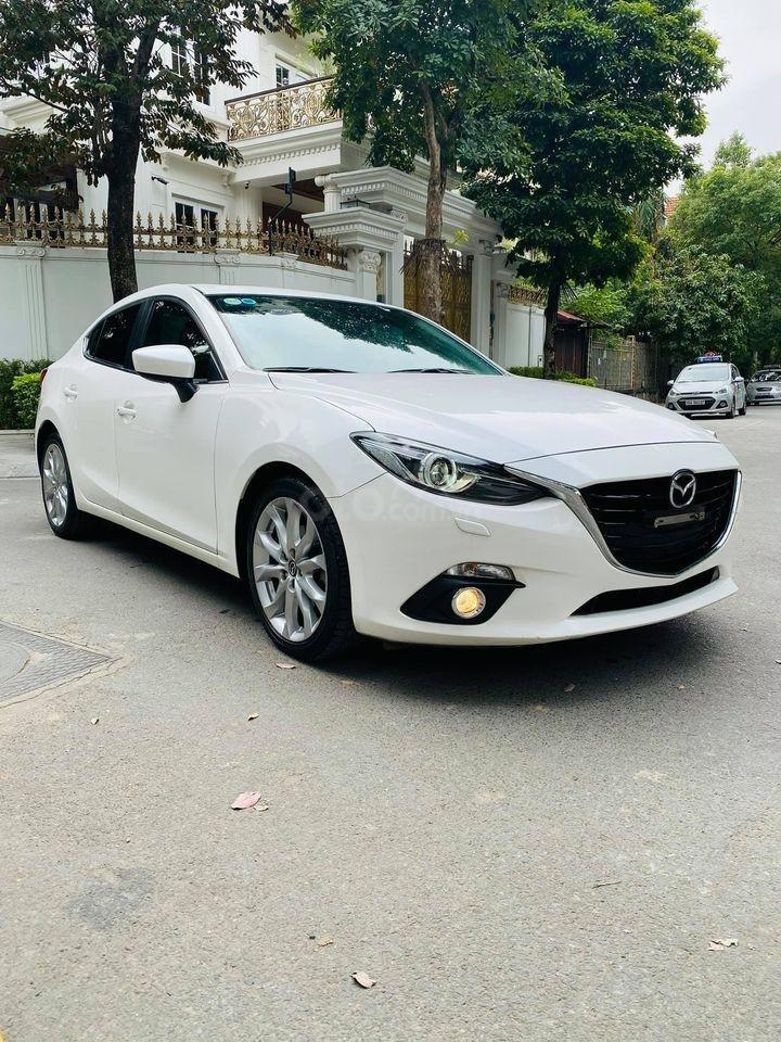Bán Mazda 3 2.0 đời 2015, màu trắng (1)