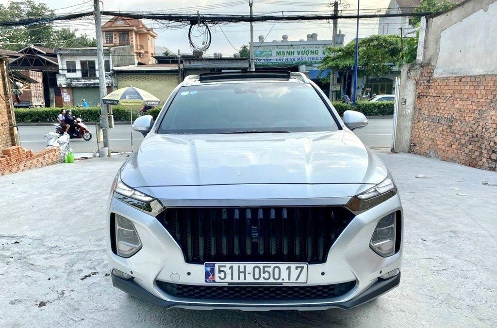 Cần bán gấp Hyundai Santa Fe 2019, màu bạc (1)
